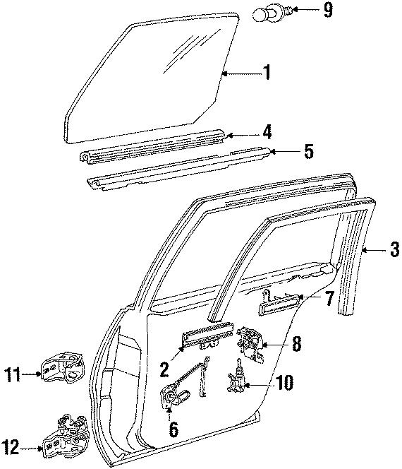 Buick Lesabre Upper hinge. Standard. Upper. Right, REAR