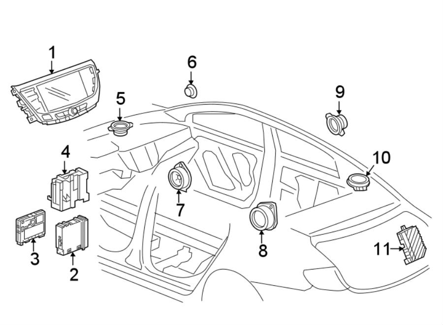 Buick LaCrosse Infotainment Display Control Module Bracket