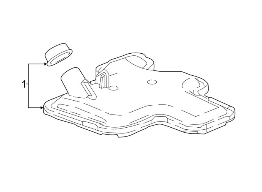 Buick LaCrosse Transmission Filter. LITER, Transaxle
