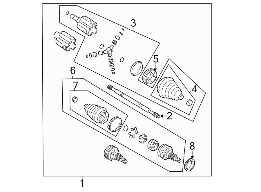 Chevrolet Monte Carlo Cv joint kit. Left, supercharger