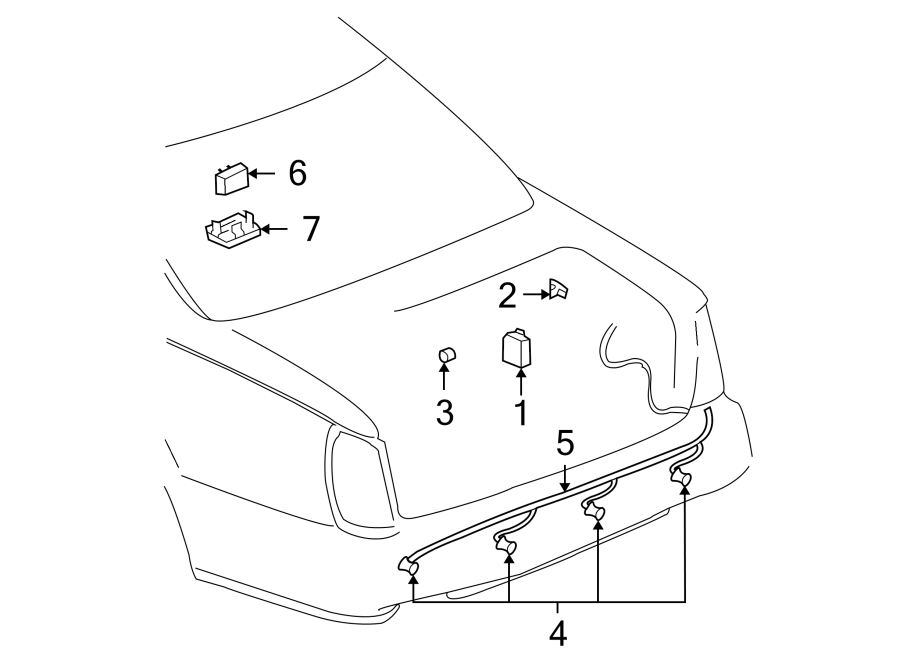 Cadillac Deville Wire harness. REVERSE SENSING SYSTEM