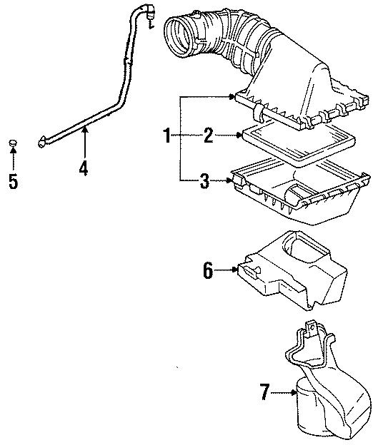 Cadillac Eldorado Engine Air Intake Resonator. 4.6 LITER