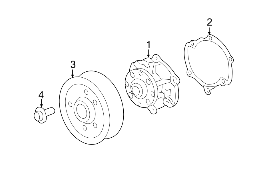 Cadillac CTS Engine Water Pump Pulley Bolt. 3.0 LITER, 3.6