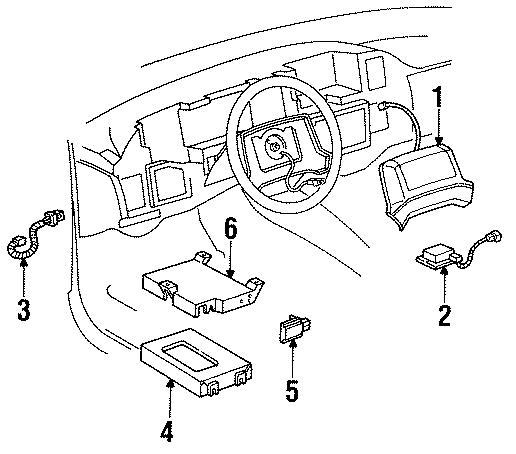 Cadillac Brougham Forward sensor. Impact sensor. 1991-93