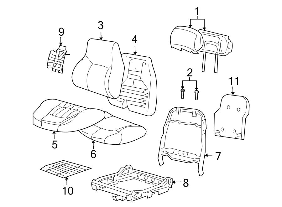 Chevrolet Impala Headrest. W/BUCKET SEATS W/O LS, oak