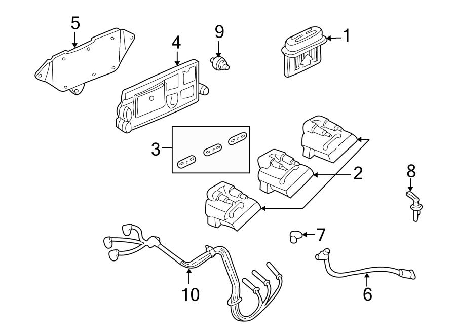 Oldsmobile Cutlass Ciera Ignition Control Module. Coil