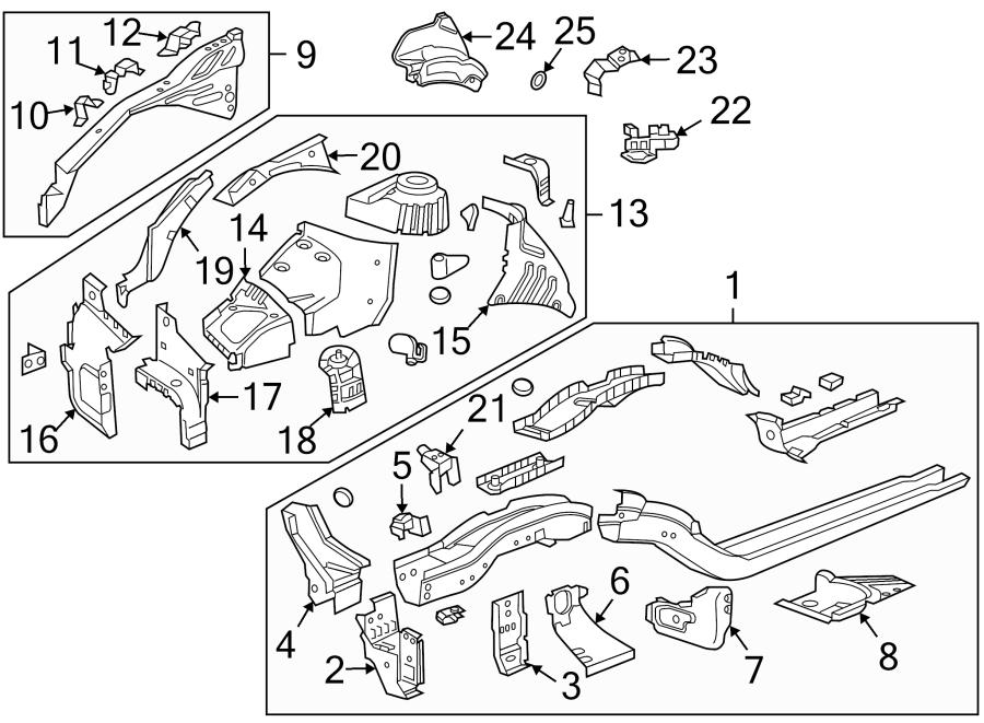 Chevrolet Cruze Limited Fender Rail Mount Plate. Headlamp