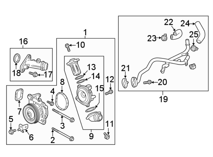 Chevrolet Cruze Engine Water Pump Bracket. 1.6 LITER
