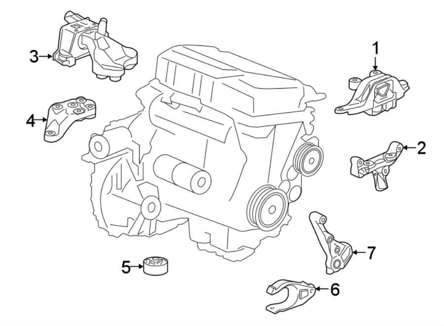 Chevrolet Cruze Engine Torque Strut. 1.4 LITER. 1.6 LITER