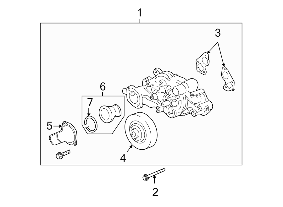 Chevrolet Tahoe Engine Coolant Thermostat. LITER