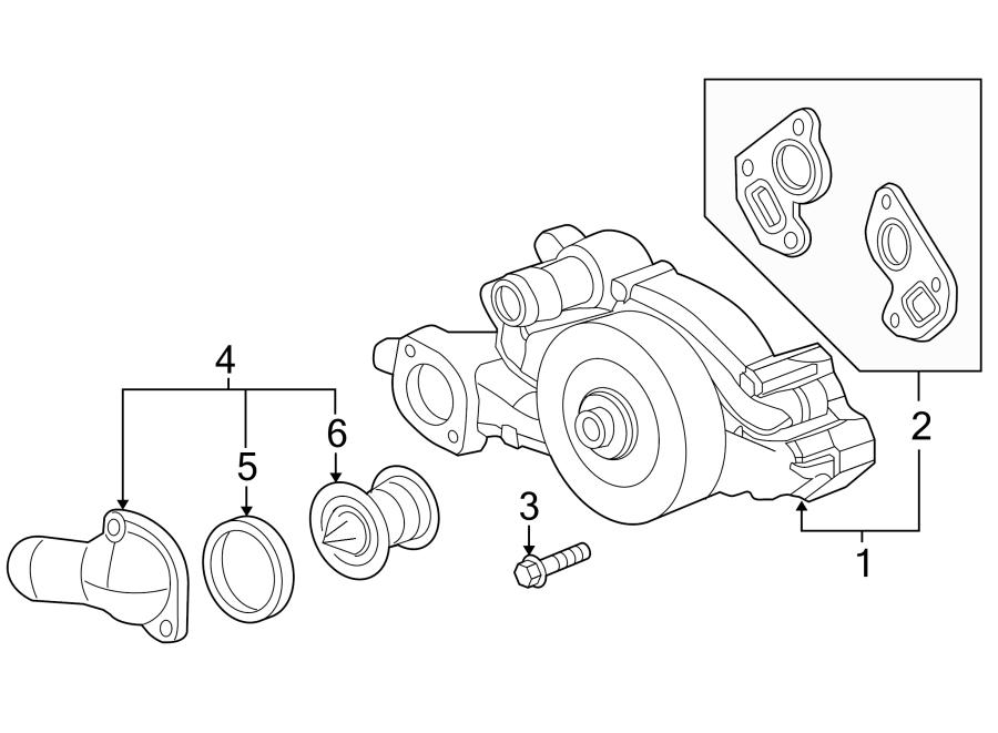 Chevrolet Corvette Engine Water Pump. COOLING, LITER, Make