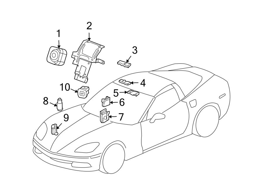 Cadillac XLR Anti-Theft Infrared Sensor. ANTI-THEFT