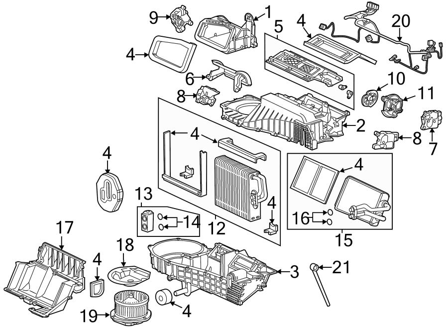 Chevrolet Corvette Case. Ac and amplifier; heater. Blower