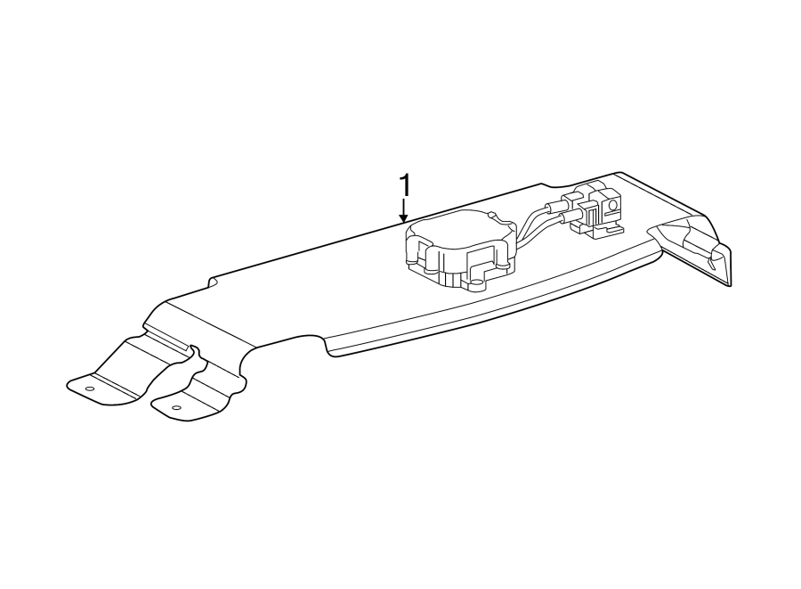 Chevrolet Corvette Antenna. Module. Amplifier. Coil. Radio