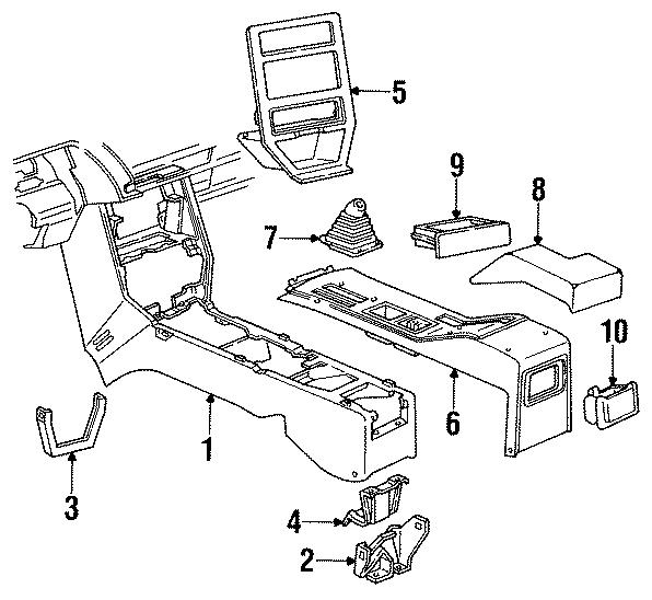 Chevrolet Cavalier Console. 1988-90 RS & Z24. MOTORS