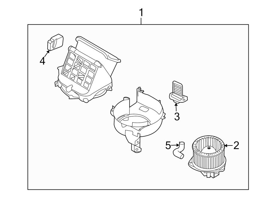 Chevrolet Aveo Motor. Actuator. HVAC. Door. Air. SEDAN