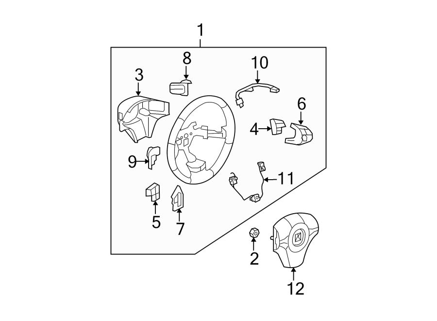 Chevrolet Malibu Steering Wheel. Control, Shift, Manual
