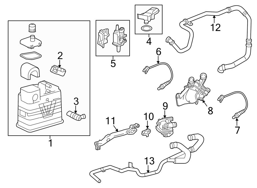 Chevrolet Malibu Secondary Air Injection Pump Adapter. 2.4