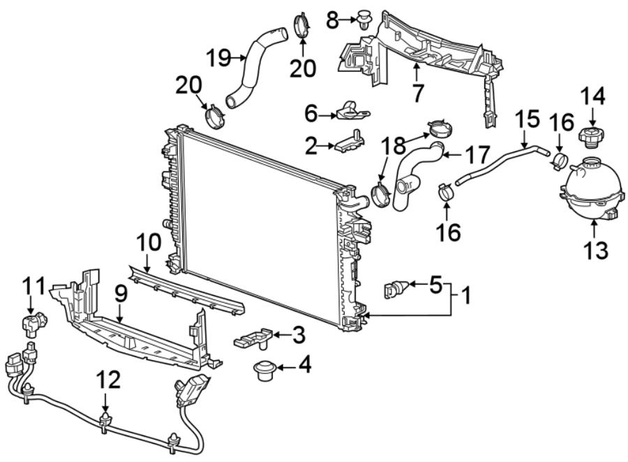 Chevrolet Malibu Radiator Support Baffle (Lower). 1.5
