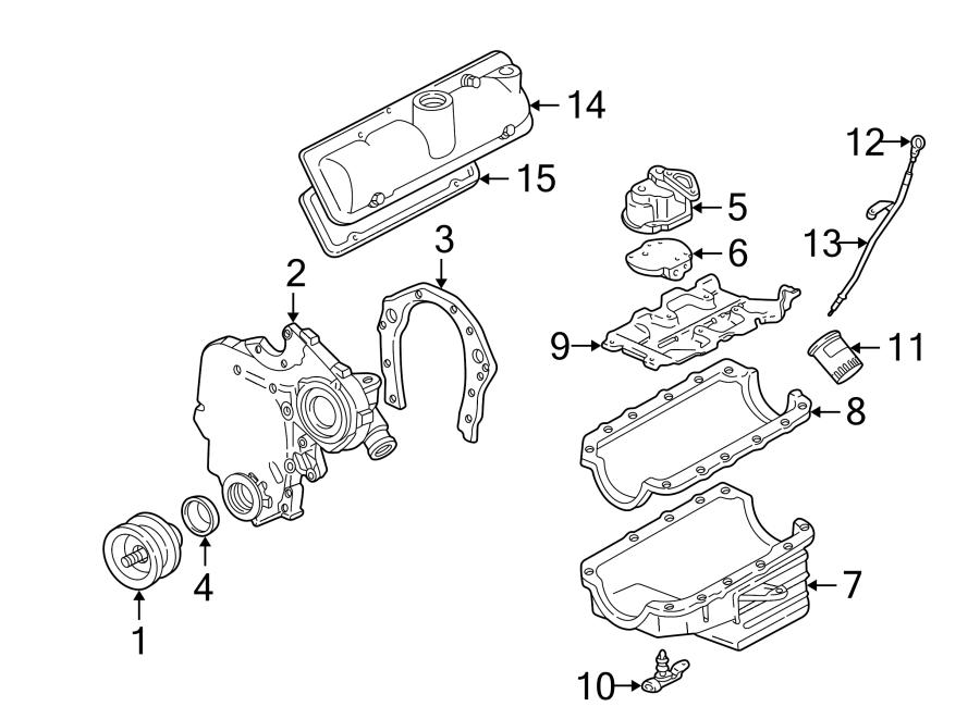 Chevrolet Malibu Engine Valve Cover. Left, Models, LITER