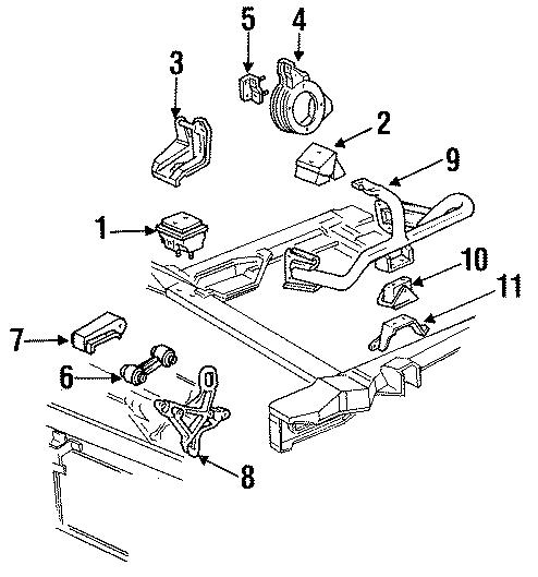Chevrolet Lumina Engine Support Rod Bracket (Rear