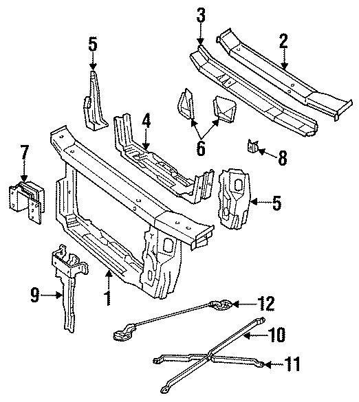 Oldsmobile Cutlass Supreme Lock bracket. Lock support