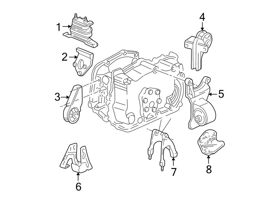 Oldsmobile Alero Automatic Transmission Mount. Front