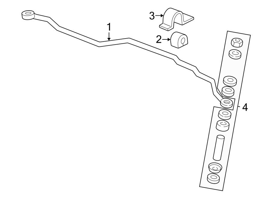 Oldsmobile Alero Suspension Stabilizer Bar (Front