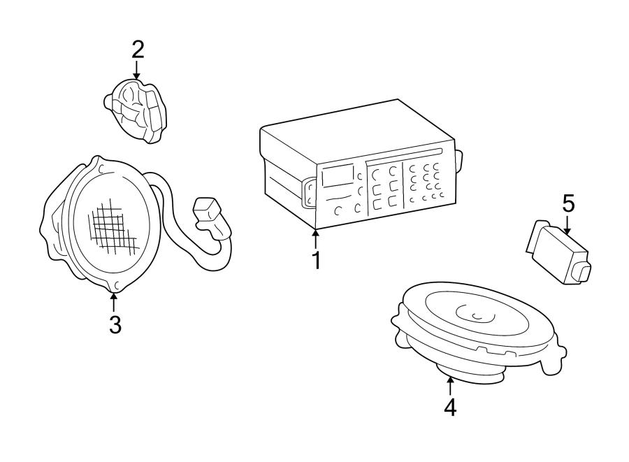 Oldsmobile Alero Speaker. Lower, 4 speaker system. Lower