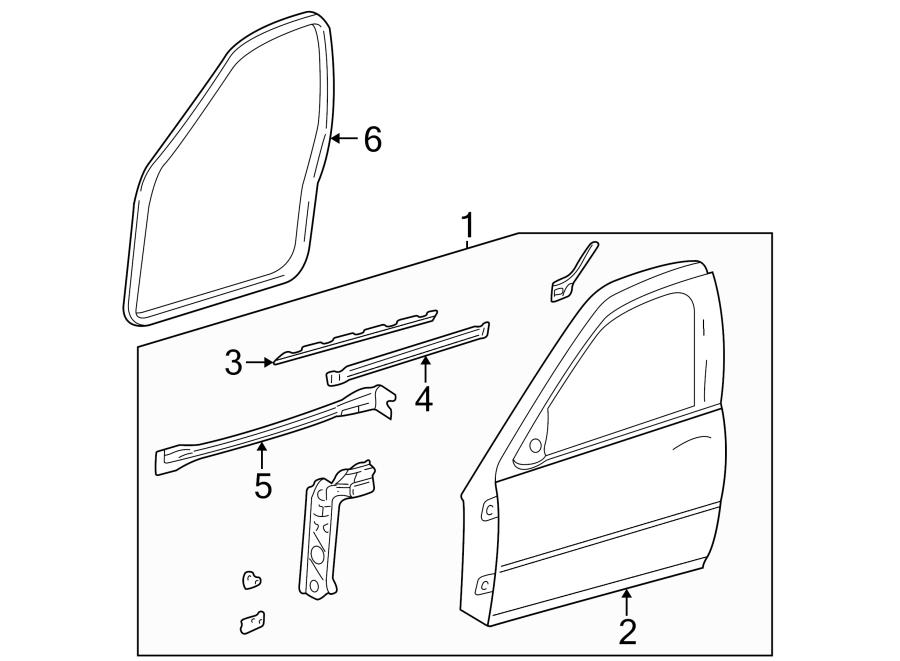 Oldsmobile Alero Door Seal. 4 DOOR, camel. 4 DOOR, oak