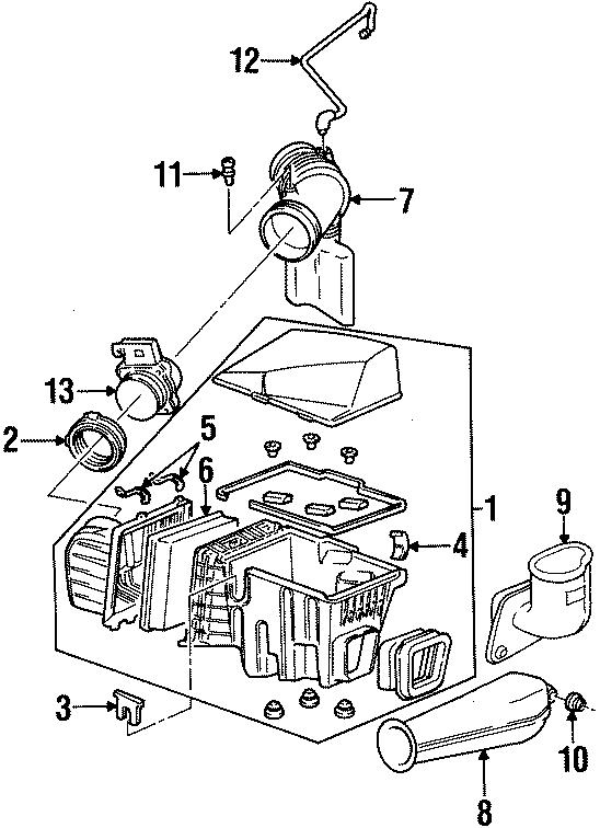 Oldsmobile Silhouette Nut. Intake. Engine. Quarter. Glass
