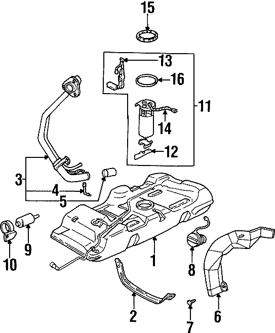 Oldsmobile Silhouette Fuel Pump Wiring Harness. Standard