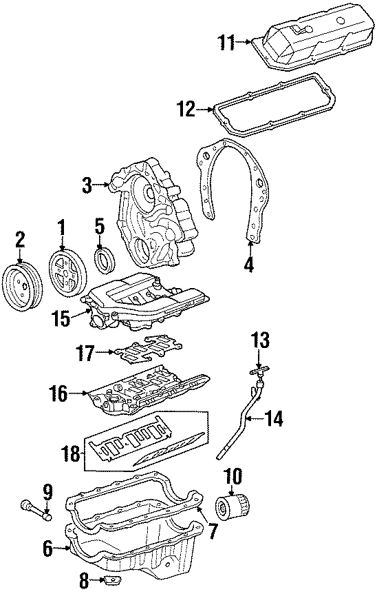 Pontiac Firebird Engine Intake Manifold (Lower). 3.4 LITER