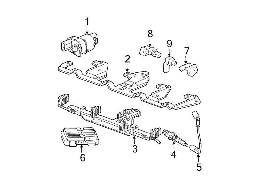 GMC Envoy XL Engine Crankshaft Position Sensor. LITER