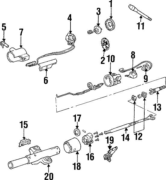 Chevrolet G30 Headlight Dimmer Switch. TILT, LOWER