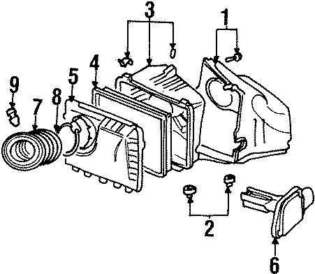 Pontiac Grand Prix Air Filter Housing (Lower). 1999-04 W