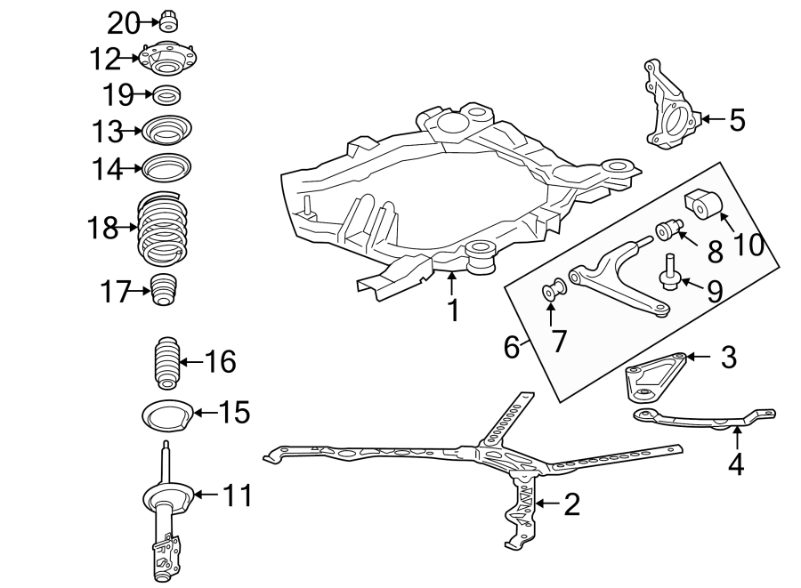 Pontiac G6 Engine Cradle. Liter, SUSPENSION, FRONT