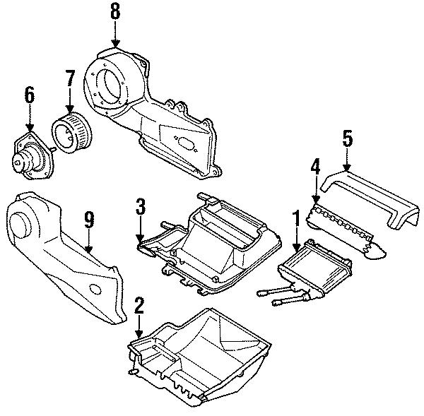 Oldsmobile Cutlass Ciera Hvac blower motor. Air, heater