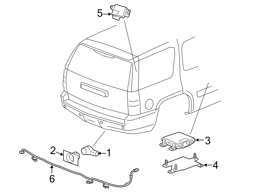 GMC Yukon XL 2500 Parking Aid System Wiring Harness