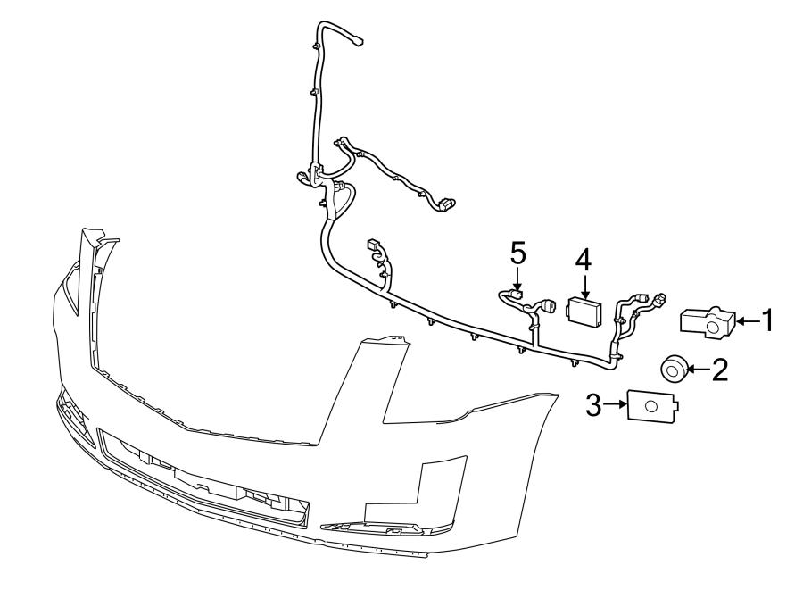 Cadillac Escalade ESV Cruise Control Distance Sensor