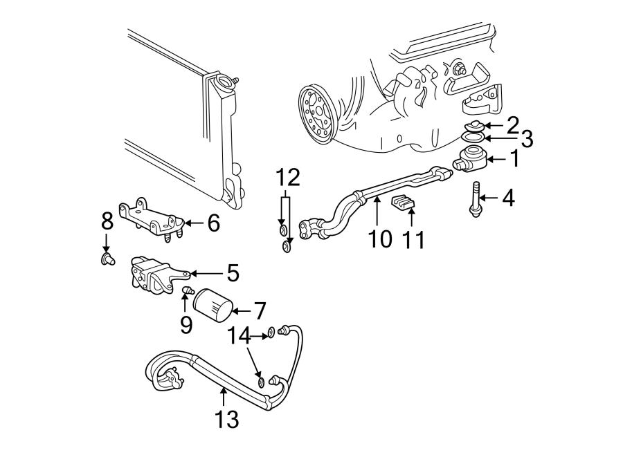Chevrolet S10 Engine Oil Cooler Line. Filter, Assembly