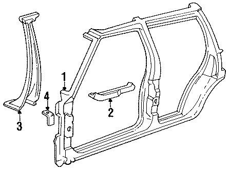 GMC Jimmy Inner pillar bracket. Instrument panel bracket