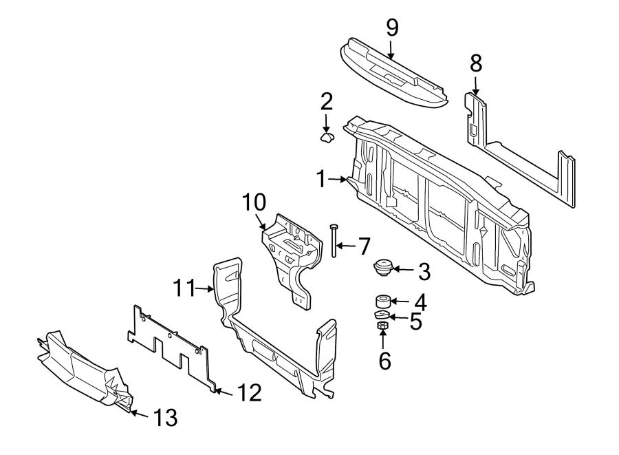 Oldsmobile Bravada Radiator Support Baffle (Rear, Upper
