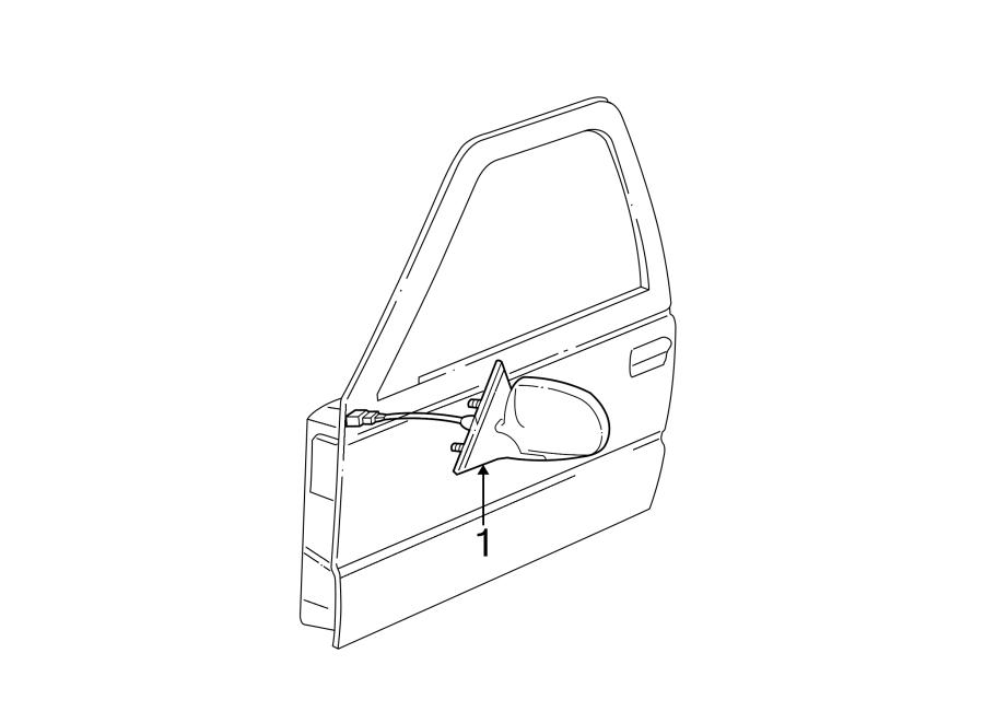 Oldsmobile Bravada Door Mirror. FRONT, Left, MIRRORS