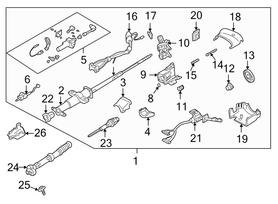 Chevrolet Blazer Steering Column. Manual, Trans, TILT