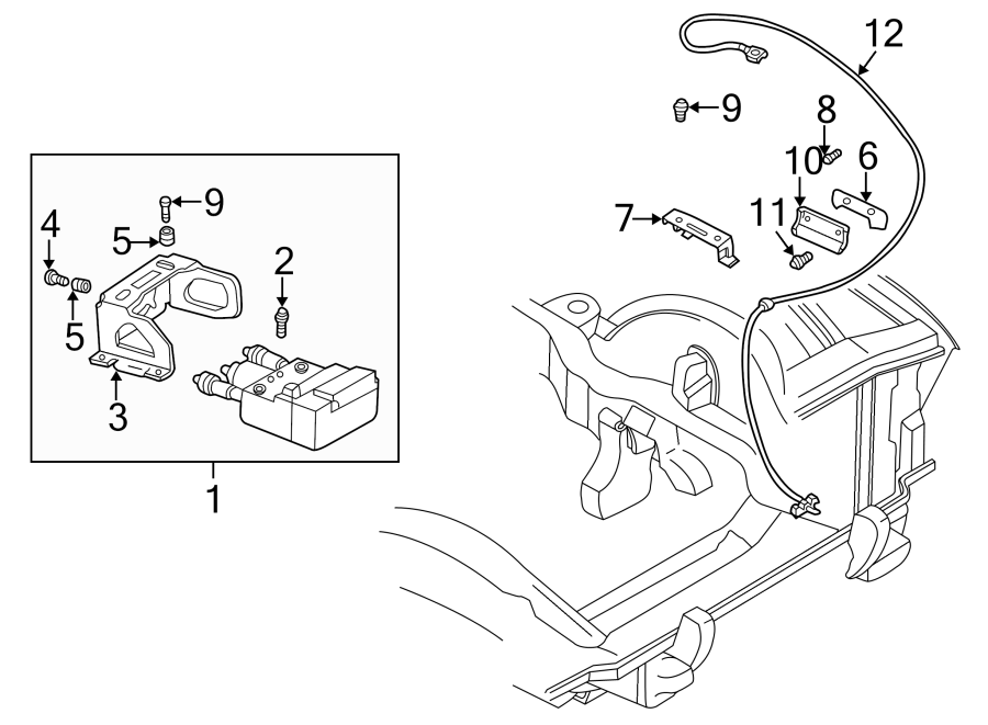 Oldsmobile Bravada Abs system main harness. 1995-2001