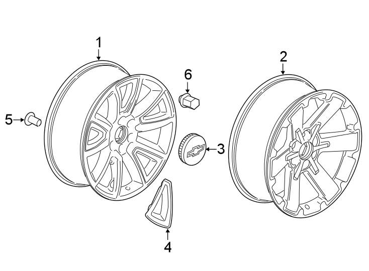 GMC Sierra 1500 Wheel. Code, PartQualifier, Notice
