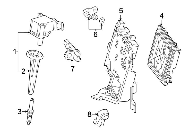Chevrolet Silverado 1500 Direct Ignition Coil Boot. Spark