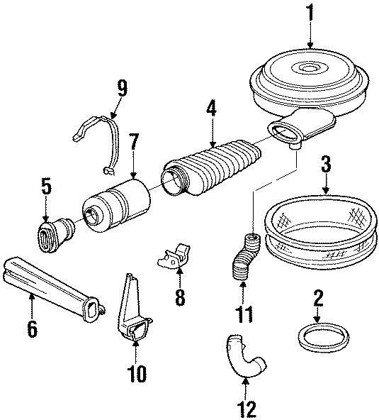 GMC K2500 Hot air tube. 1992-95 7.4 LITER, lower. 7.4