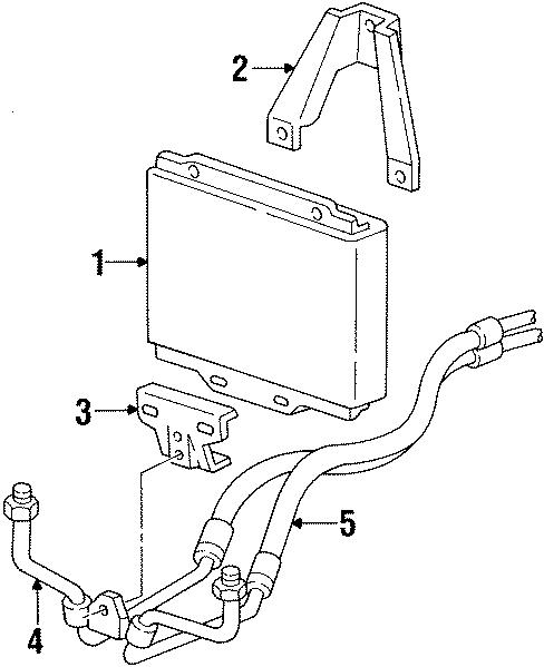 GMC Jimmy Engine Oil Cooler Hose Assembly. 6.2 LITER